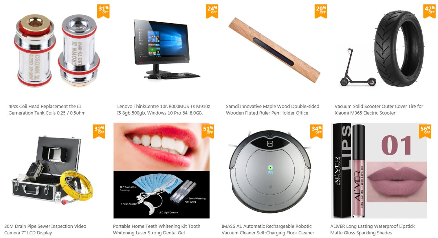 Flash sale and clesrance at Tomtop Technology, 2