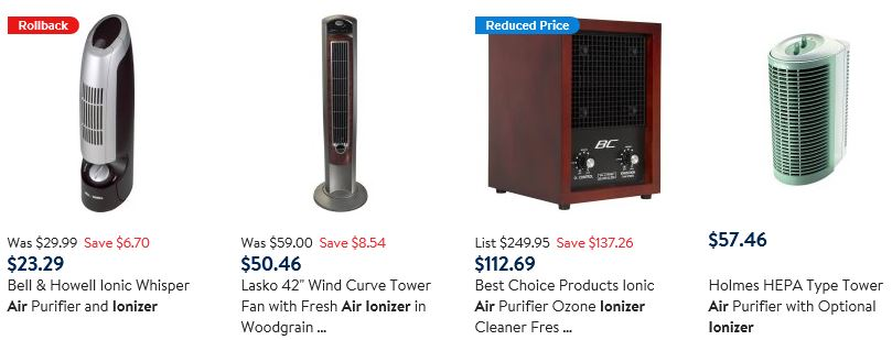 Walmart - Air Ionizers